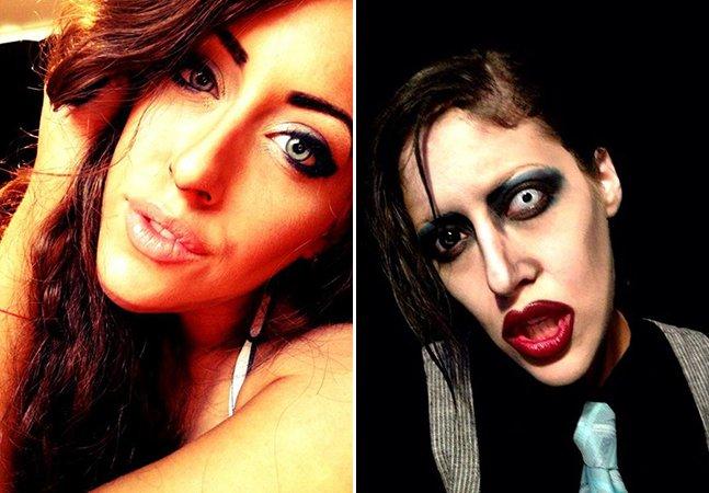 Só com maquiagem, artista se transforma em diferentes personagens famosos