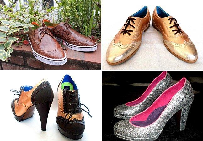 Nessa loja, você desenha o sapato que quer e eles fabricam para você