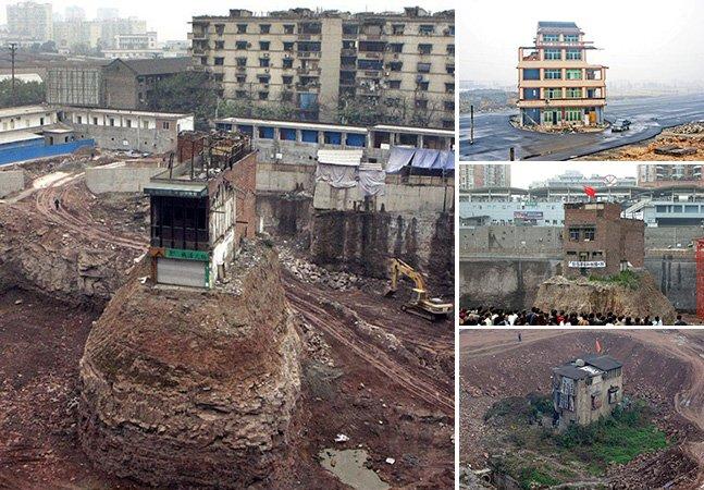 Série de fotos mostra casas que sobreviveram ao crescimento das cidades