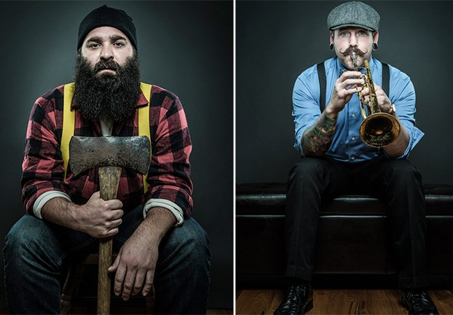 Ensaio fotográfico mostra o quanto a barba pode dizer sobre uma pessoa
