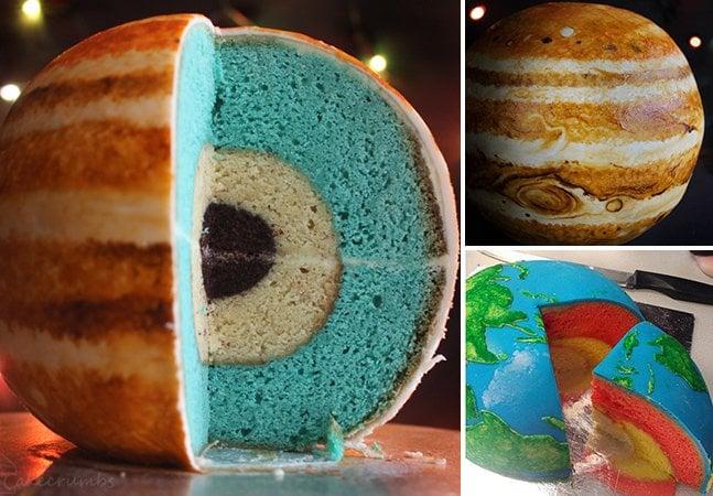 Jovem autodidata cria bolos que reproduzem planetas fielmente