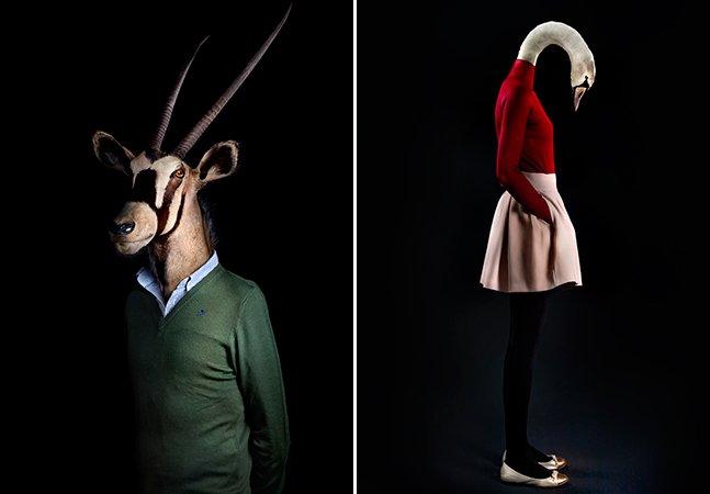 Série de fotos divertida mostra animais se vestindo como humanos