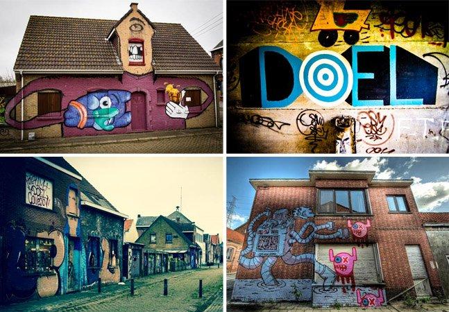 Conheça Doel, uma cidade abandonada dominada por street art