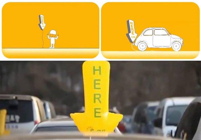 A forma mais simples e eficiente de mostrar aos motoristas onde há vagas