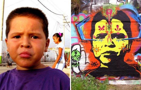 Artista fotografa estranhos pelas ruas e os transforma em graffiti