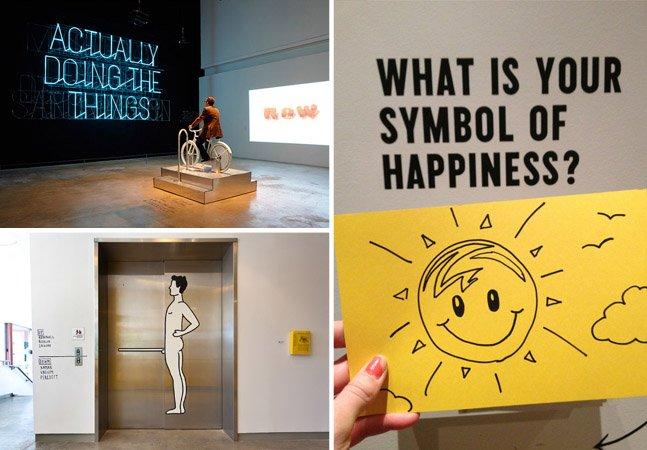 Exposição de arte questiona os níveis e tipos de felicidade das pessoas