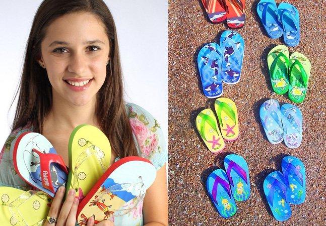 Jovem de 15 anos fatura 1 milhão com chinelos desenhados por ela