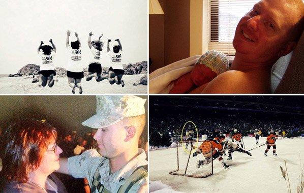 Seleção de fotos mostra melhores momentos da vida de algumas pessoas