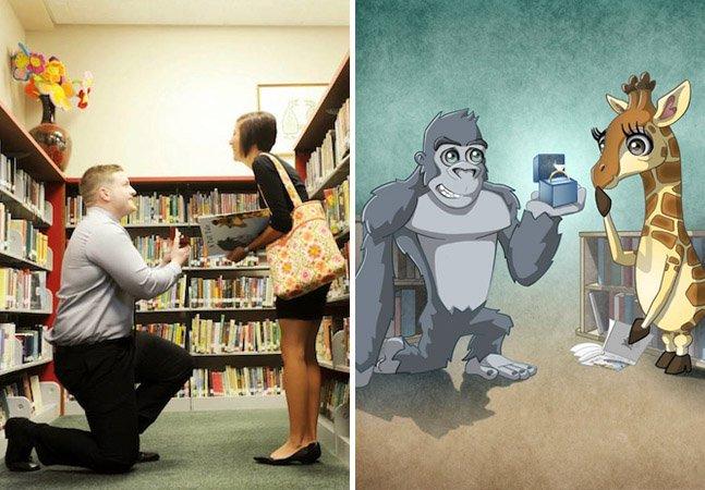 Ele fez um livro infantil ilustrado para pedir seu amor em casamento