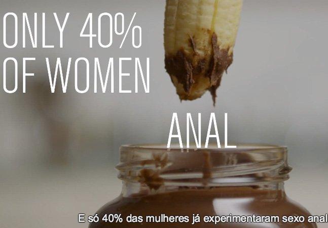 Vídeo mostra as diferenças entre sexo real e pornô ilustrado com comidas