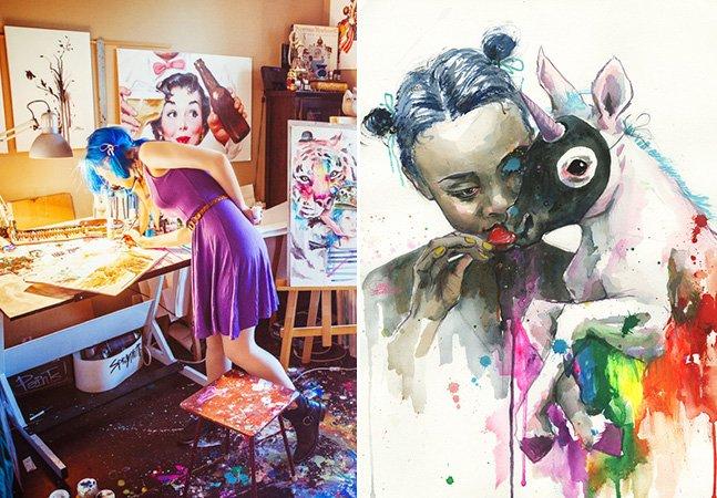 Impressionante time-lapse mostra artista criando obras com aquarela