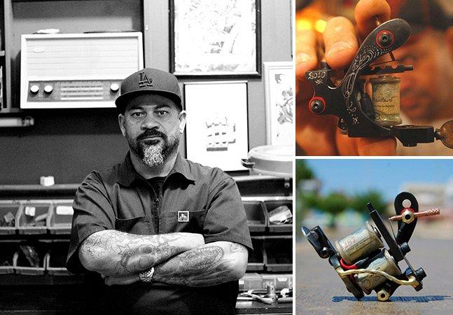 O trabalho do artista que cria incríveis máquinas de tatuagem artesanais