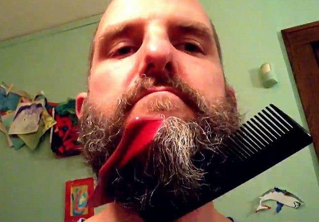 Fotógrafo cria stop-motion fazendo mágica com a própria barba