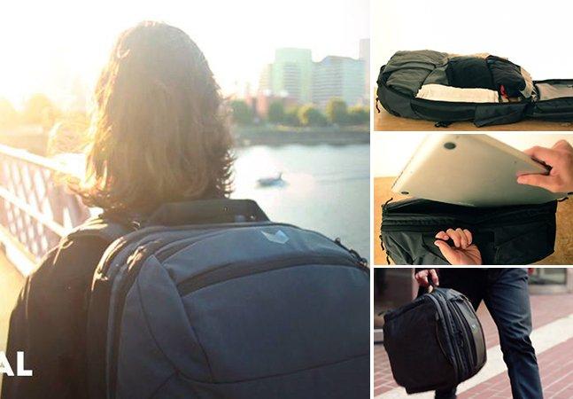 A reinvenção da mochila de viagem que vai facilitar muito a sua vida