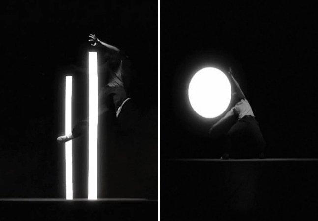 A incrível performance do bailarino que dança com feixes de luz