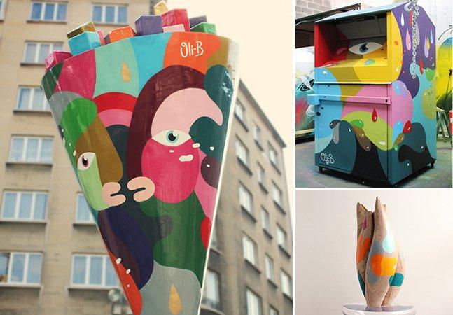 Artista usa cores vivas pra espalhar sua arte por diferentes plataformas