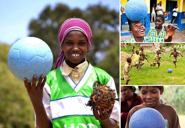 Homem cria bola de futebol indestrutível e muda vida de milhares de crianças