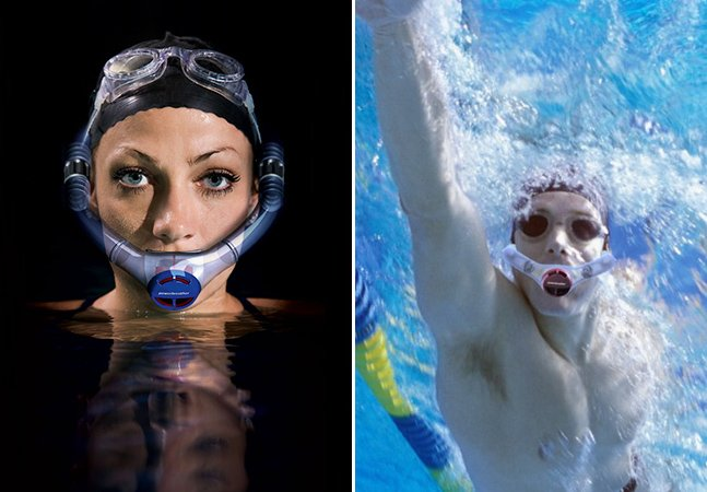 Snorkel inovador permite nadar sem tirar a cabeça d' água pra respirar