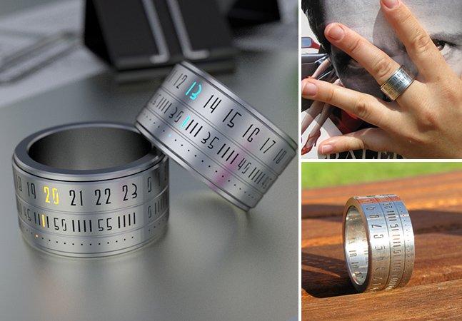 Designer cria relógio e anel em um produto só