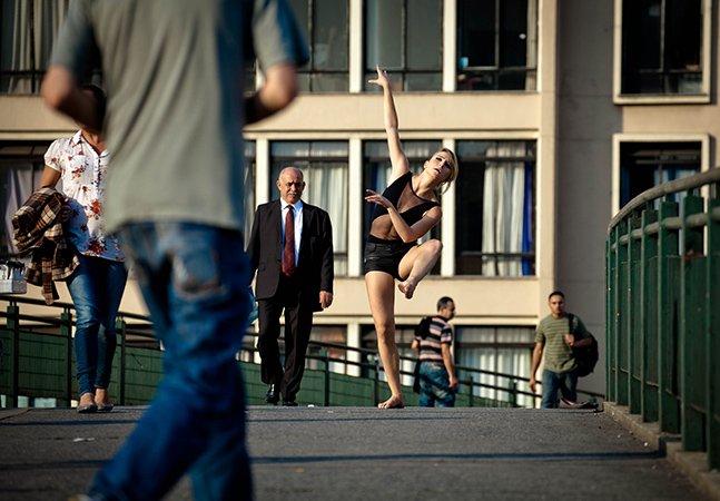 Projeto fotográfico mistura a leveza de dançarinos com cenários urbanos