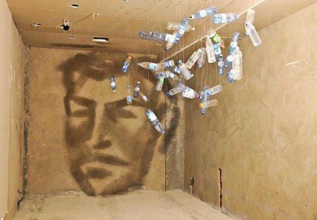 Artista utiliza luzes e sombras para criar incríveis desenhos na parede