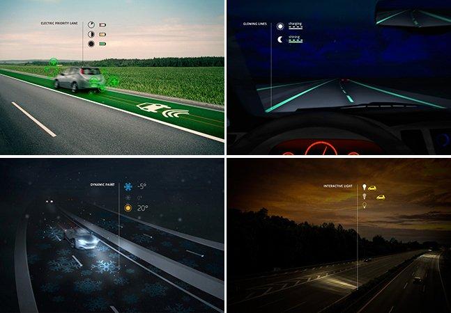 """""""Estradas Inteligentes"""" brilham no escuro e carregam veículos elétricos"""
