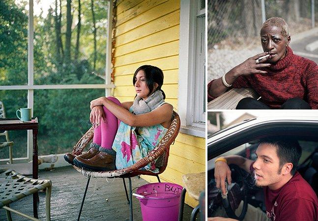Fotógrafa retrata o mundo solitário dos fumantes