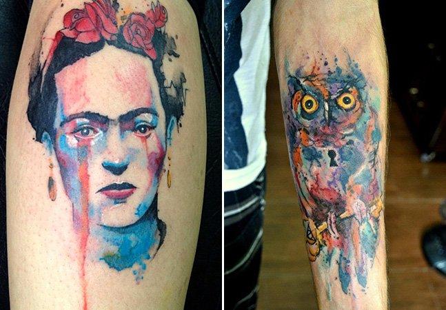 Aquarela na pele: conheça o fantástico trabalho desse tatuador brasileiro