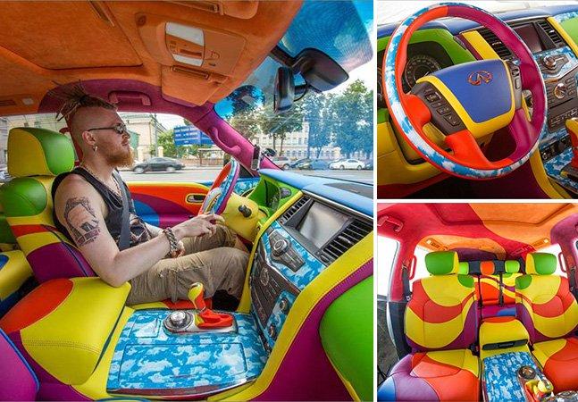O homem que transformou seu carro num verdadeiro Yellow Submarine