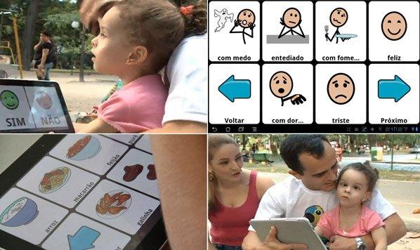 Pai cria app para conseguir se comunicar com filha com paralisia cerebral