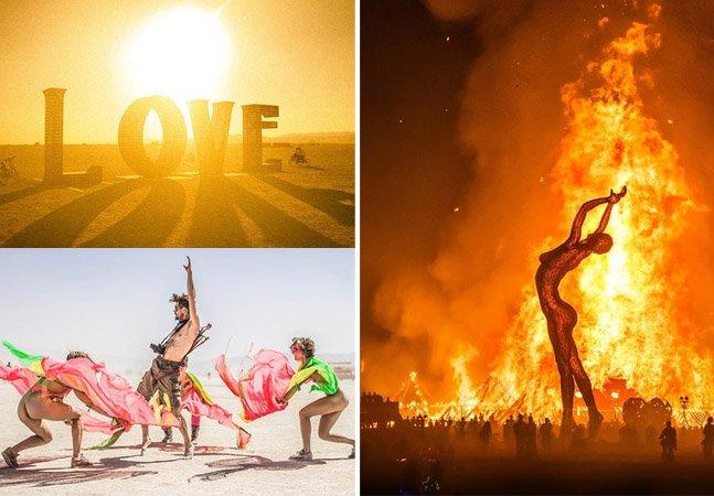 Fantásticas fotos do festival de contra cultura que acontece no meio do deserto