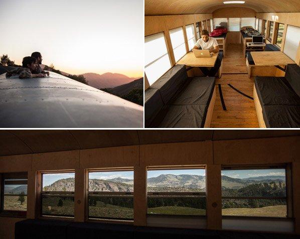 Arquiteto reforma ônibus antigo e sai pelos USA documentando suas paradas