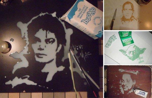 Artista cria impressionantes retratos de famosos usando comidas e bebidas