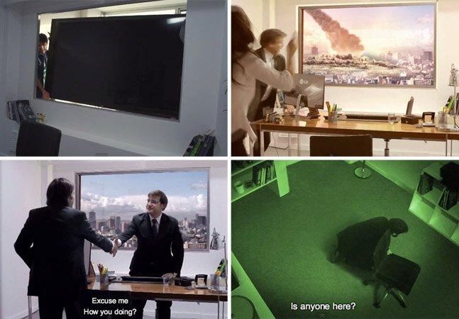 Pra divulgar definição Ultra HD, marca cria pegadinha simulando uma catástrofe