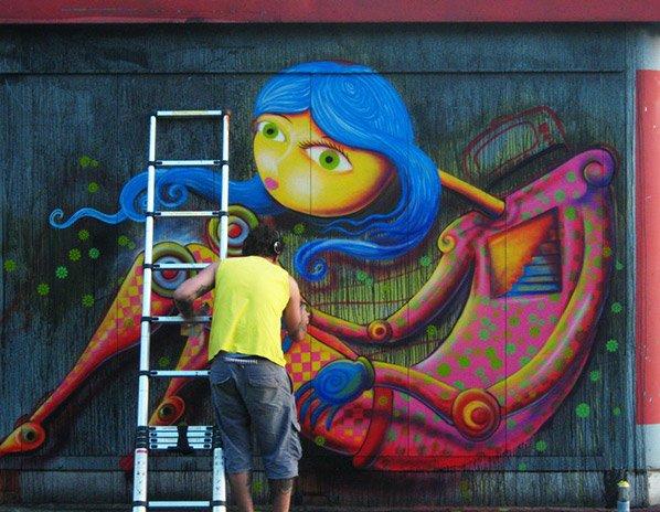 Projeto conecta donos de muros com artistas que querem trazer cor pra cidade
