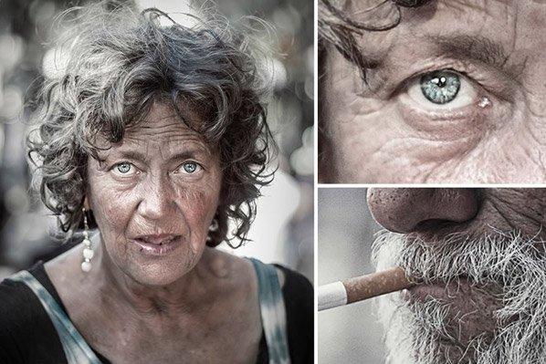 Projeto fotográfico impactante mostra moradores de rua como você nunca viu