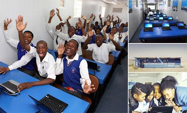 Container vira escola movida a energia solar e muda a realidade de jovens
