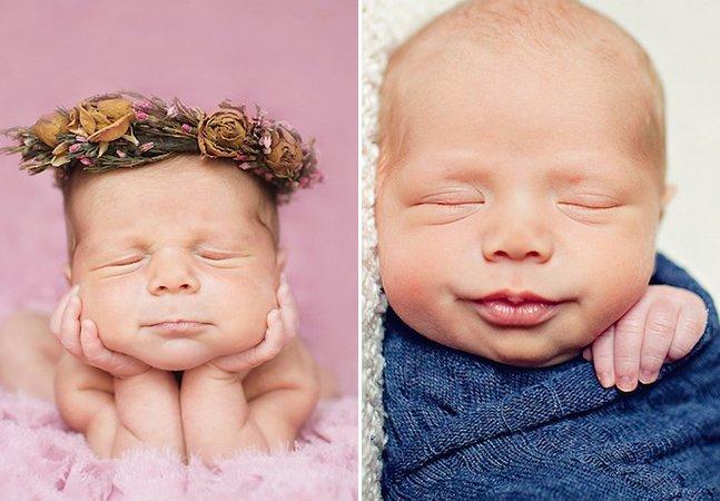 Fotógrafa cria série encantadora de bebês em seus primeiros dias de vida
