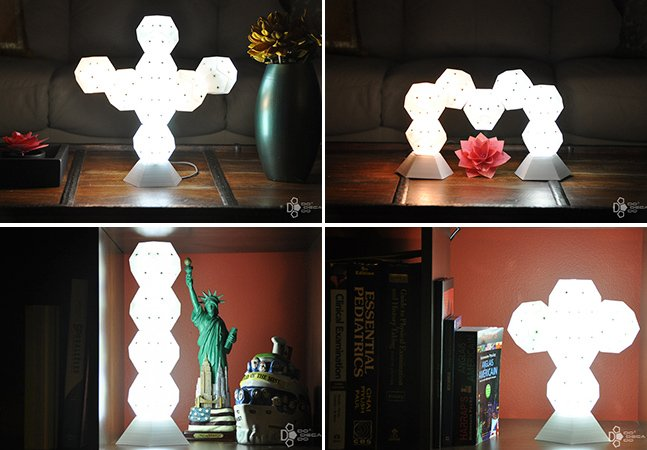 Luminária flexível poder ser montada como você quiser