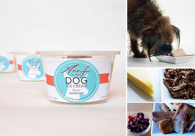 Empresa americana cria sorvete orgânico pra cachorros