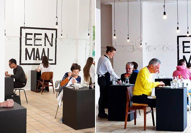 Designer cria restaurante que só tem mesas para uma pessoa