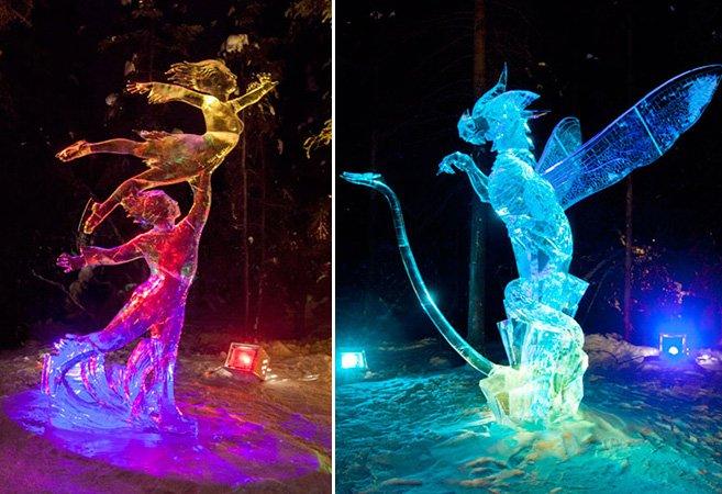 Você vai duvidar que essas esculturas foram feitas com um único bloco de gelo
