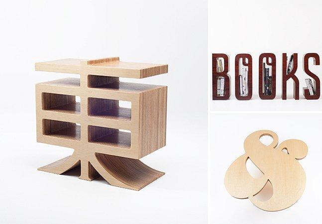 Designers criam móveis fantásticos inspirados em tipografia