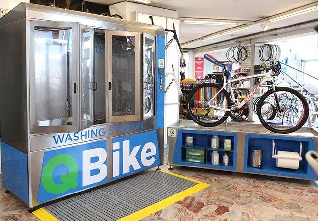 Bike suja? Conheça o sistema de lavagem automática para bicicletas