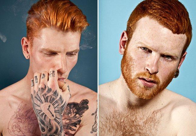 Série fotográfica retrata a beleza dos homens ruivos