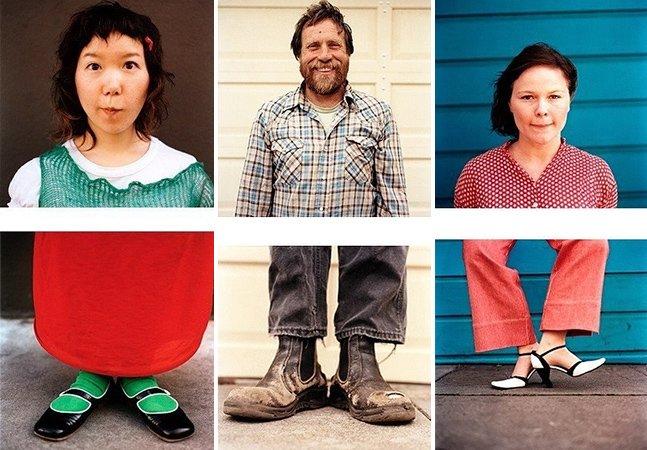 Série fotográfica retrata pessoas e seus sapatos