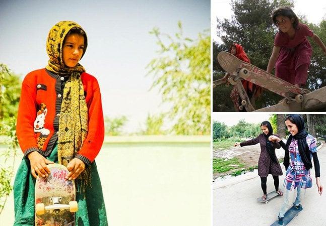 Meninas skatistas afegãs usam o esporte para lutar contra a repressão