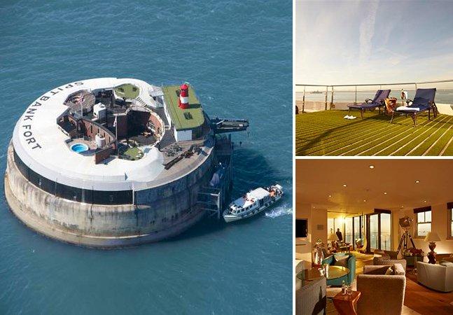 Forte marítimo abandonado é transformado em hotel de luxo