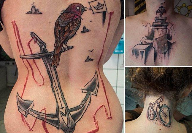 Conheça a arte sem regras do tatuador alemão Sven Groenewald
