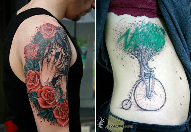 Conheça as incríveis tatuagens de traço fino do artista brasileiro Taiom